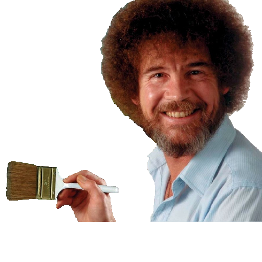 Bob ross afro png. More of the joy