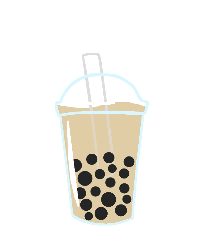 Boba vector. Tea clipart