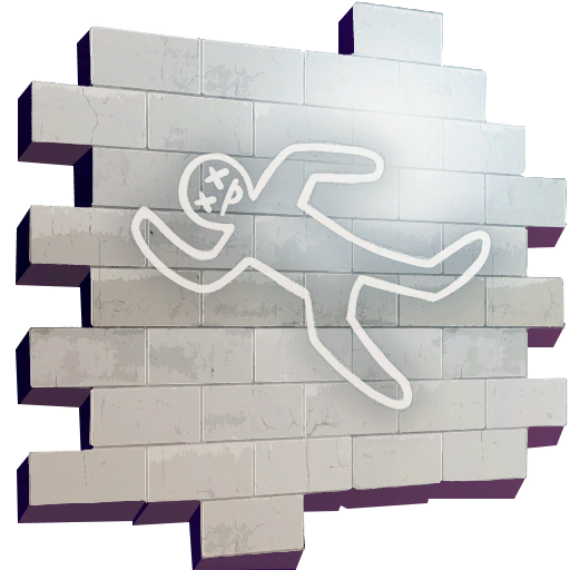 Body chalk outline png. Spray fortnite wiki