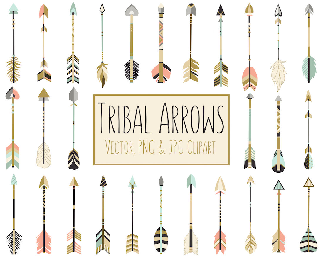 Boho clipart arrow. Tribal arrows dpi vector