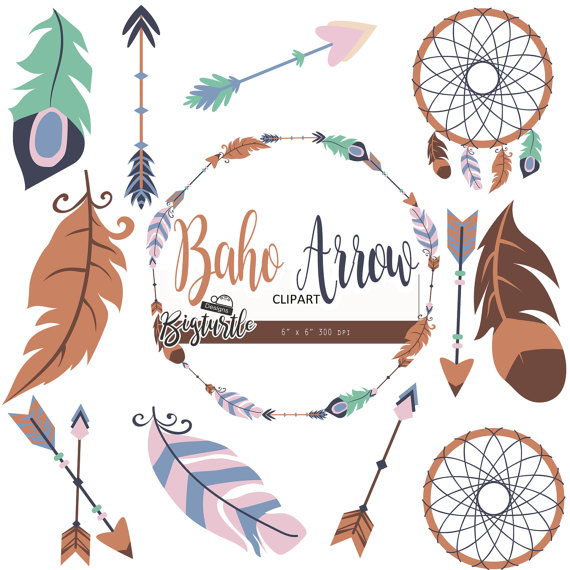 Boho clipart arrow. Off sale tribal