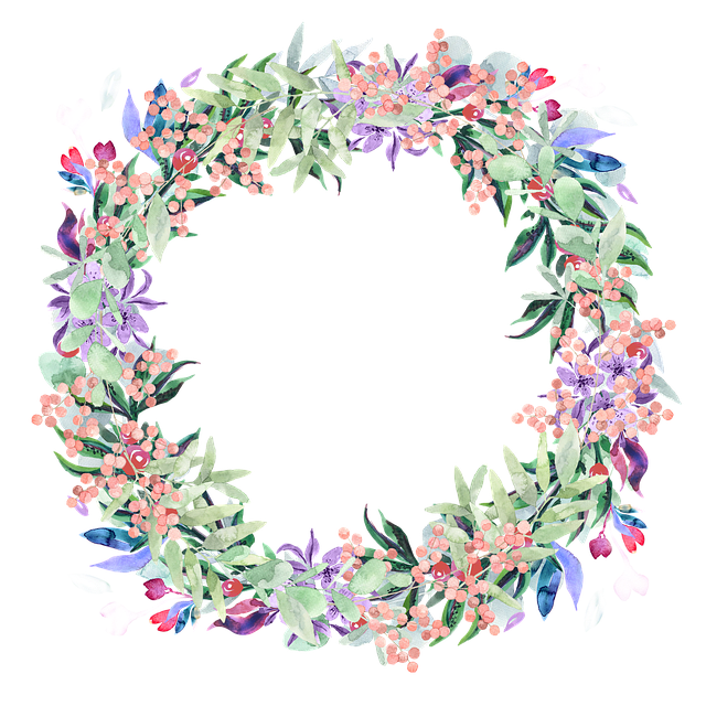 Boho clipart boho wreath. Png vector psd peoplepng