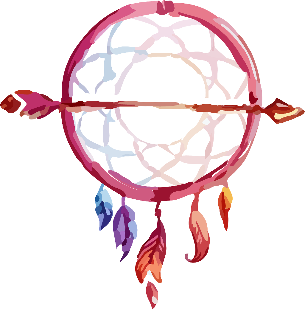 Dreamcatcher transparent boho. Bohemian dreamcatchers arrow arrows