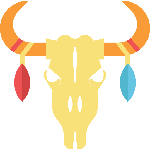 Boho clipart cow skull. Bull icons free download