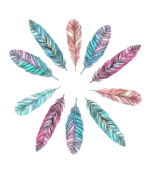 Boho feathers png. By milkyanunnie on deviantart