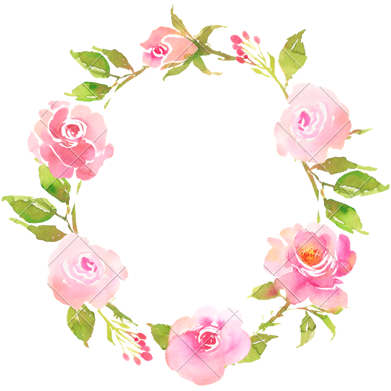 Boho flower png. Bohemian wreath with roses