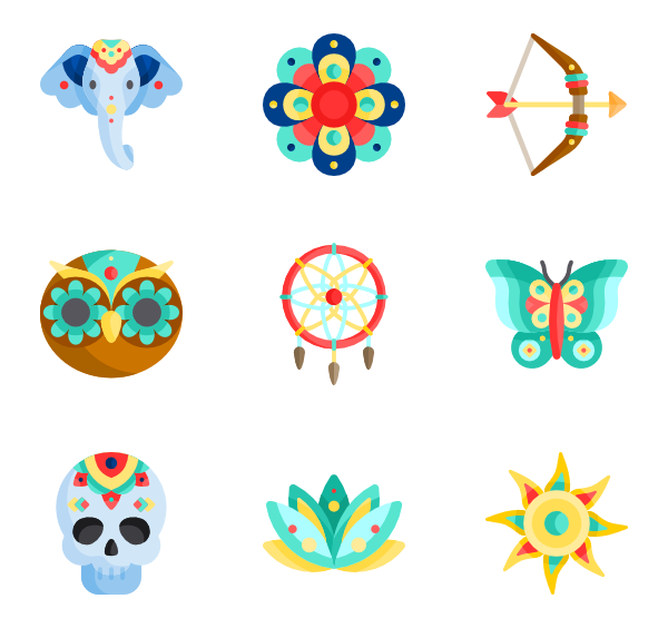 Boho vector. Icon packs svg