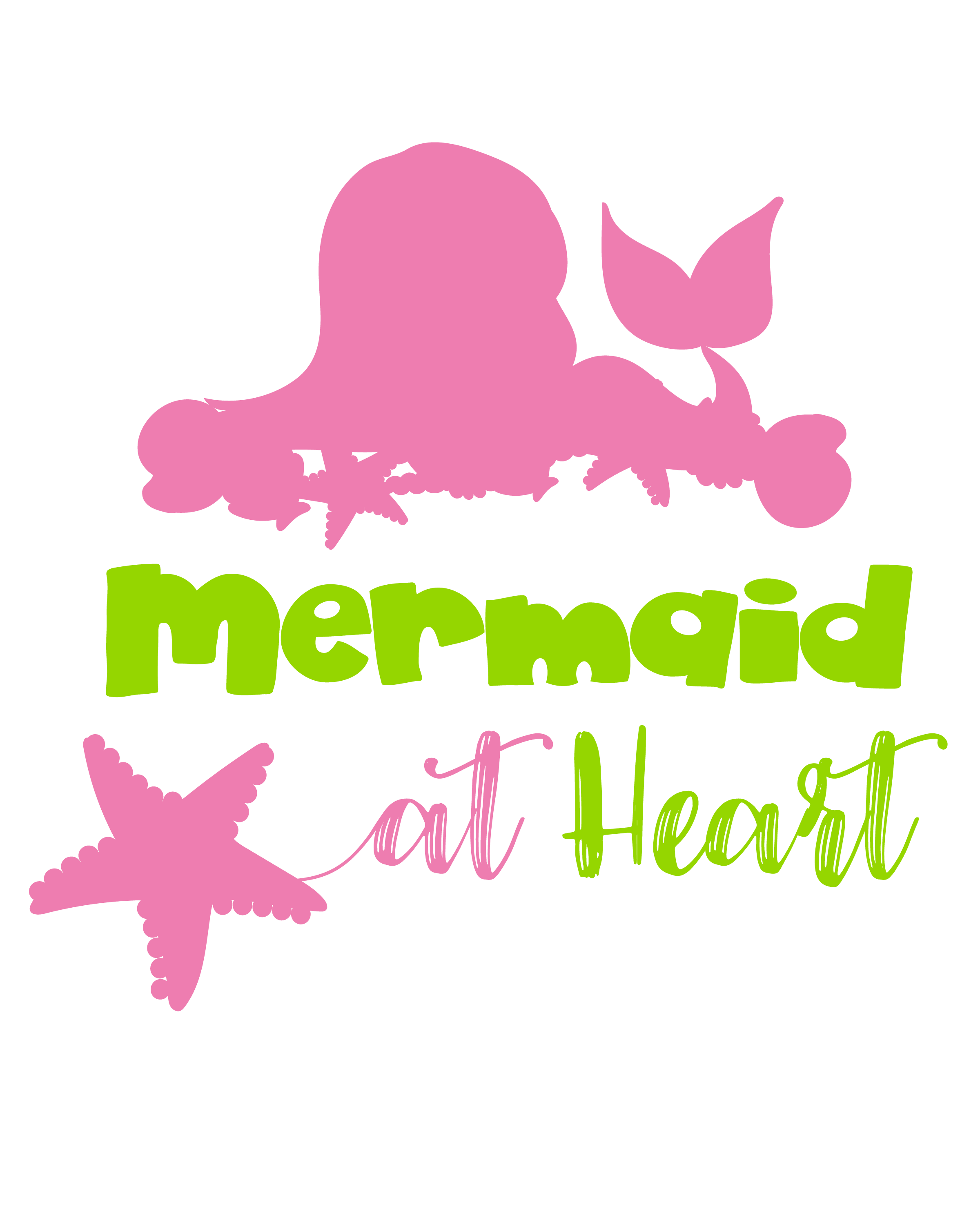 At heart cutting files. Svg mermaid royalty free stock