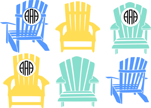 Frames svg silhouette cameo. Newest products adirondack beach