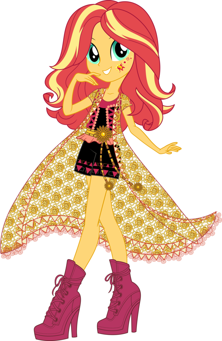 Boho vector. Legend of everfree sunset
