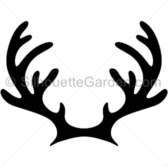 Boho vector antler. Clip black and