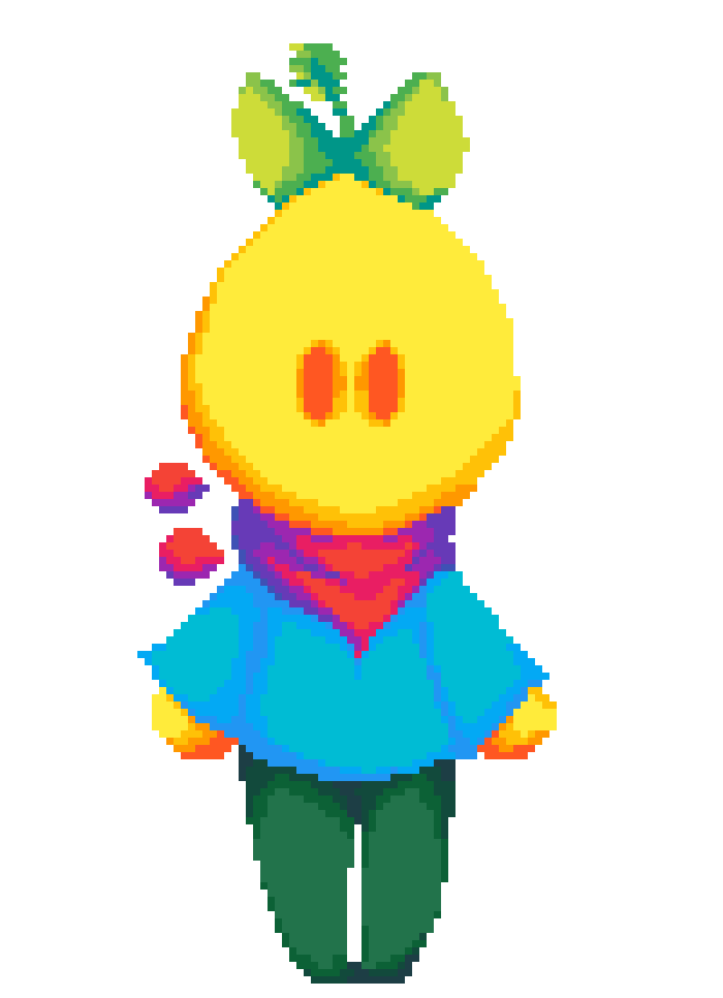 Boi transparent yellow. Pixilart lemon by superduperdoopy