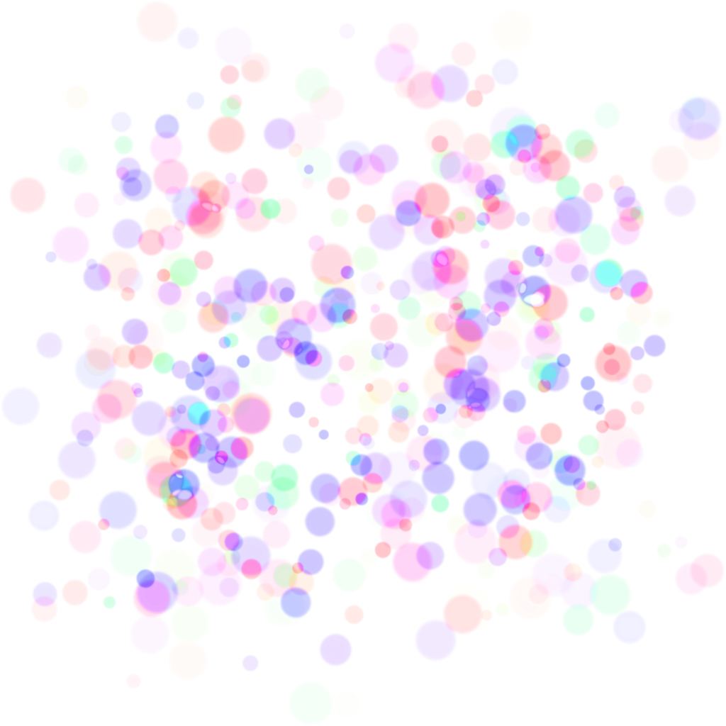 Glowing particles png. Bokeh effects colors pastel