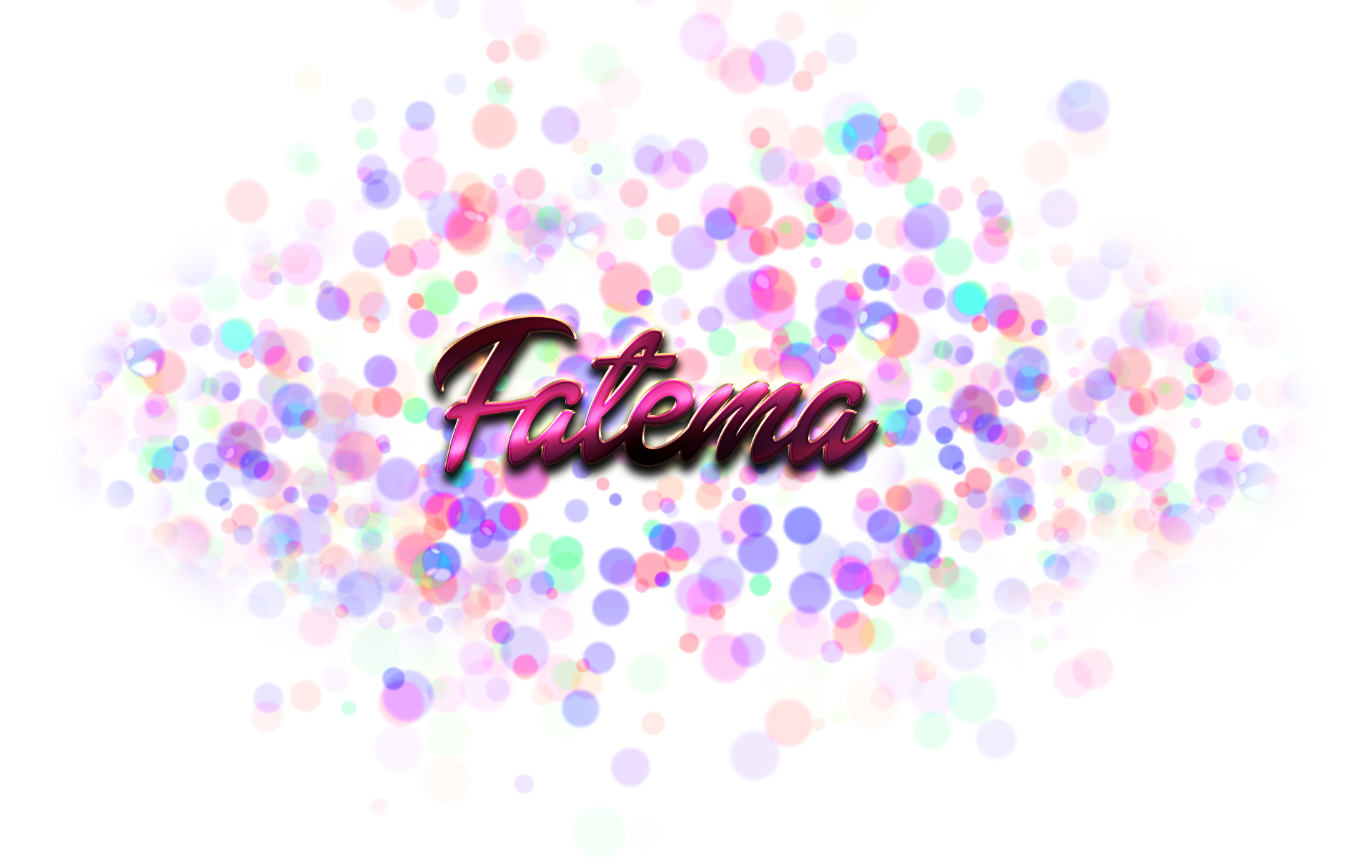 Bokeh vector birthday background. Fatema name logo png