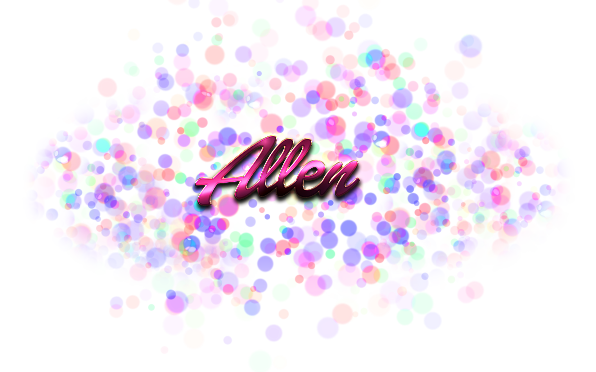 Bokeh vector diwali. Allen name png ready