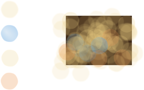 Bokeh vector effect. Camera clip art at