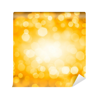 Bokeh vector gold. Lights wall mural pixers