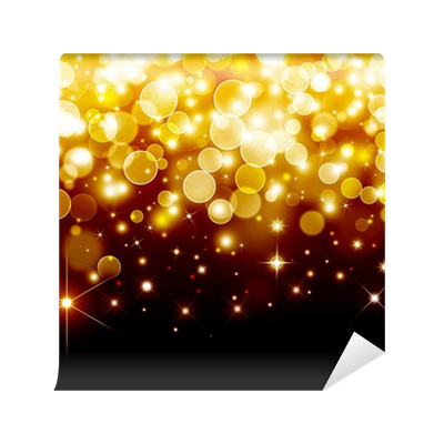 Bokeh vector gold. Festive background wall mural