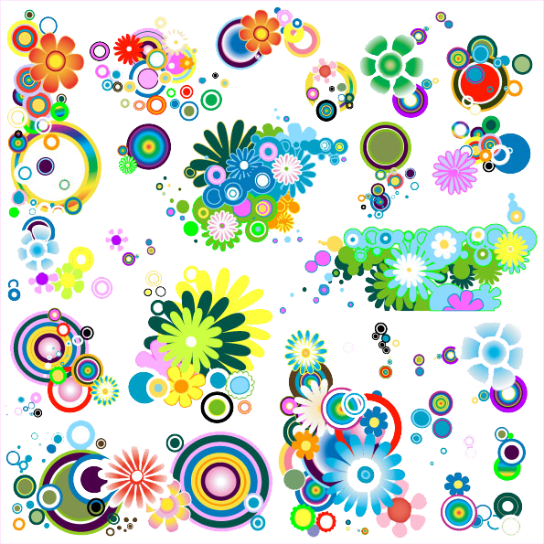 Bokeh vector high re. Png colorful flowers flowery
