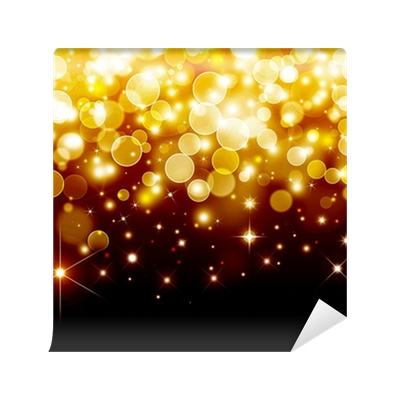 Bokeh vector orange. Gold festive background wall