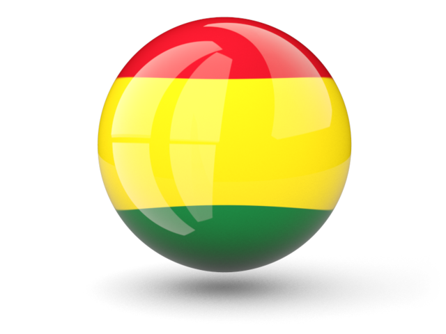 Bolivia flag png. Sphere icon illustration of