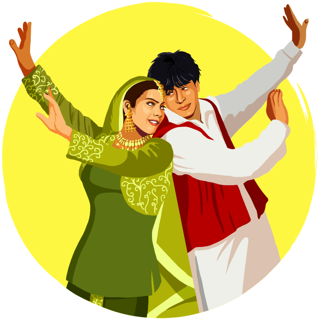 Bollywood clip dancer. Google allo stickers on
