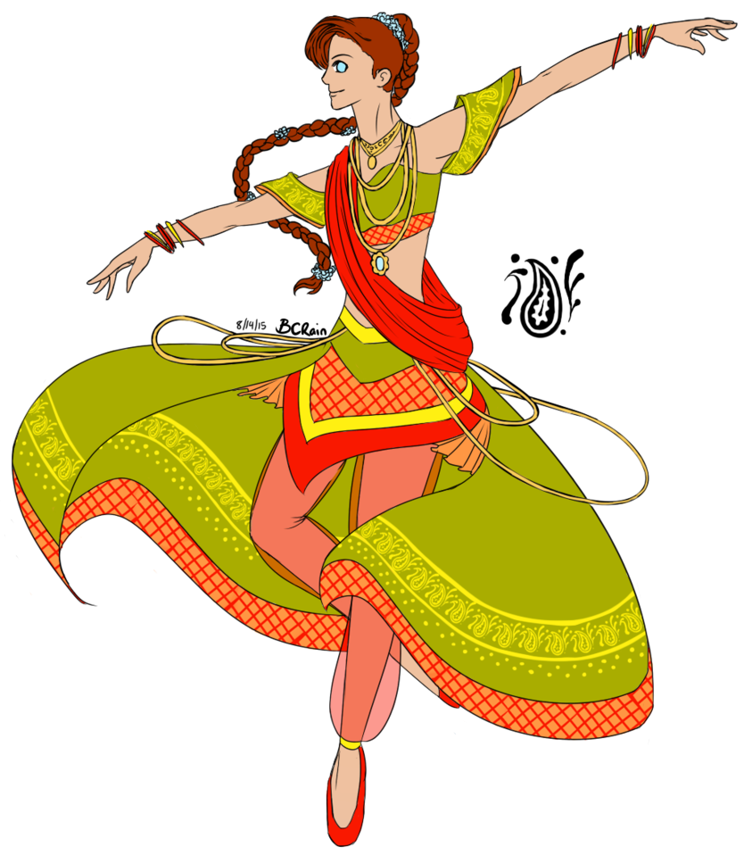 Bolywood clip dancing. Bollywood dance silhouette at