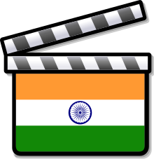 Bollywood clip indian. Wikipedia india film clapperboard