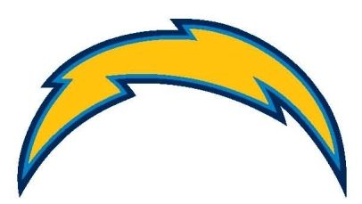 Bolt clipart fake. San diego charger temporary