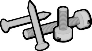 Bolt clipart fastener. Screws and nails clip