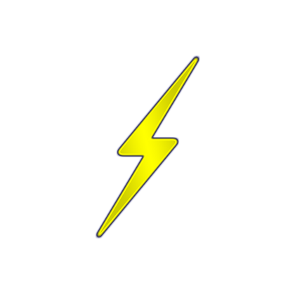 Lightning bolt clipart yellow. Images roblox