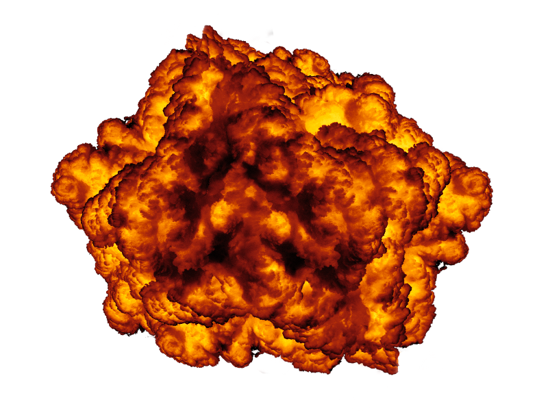 Explosion effect image isolated. Blast png jpg free library