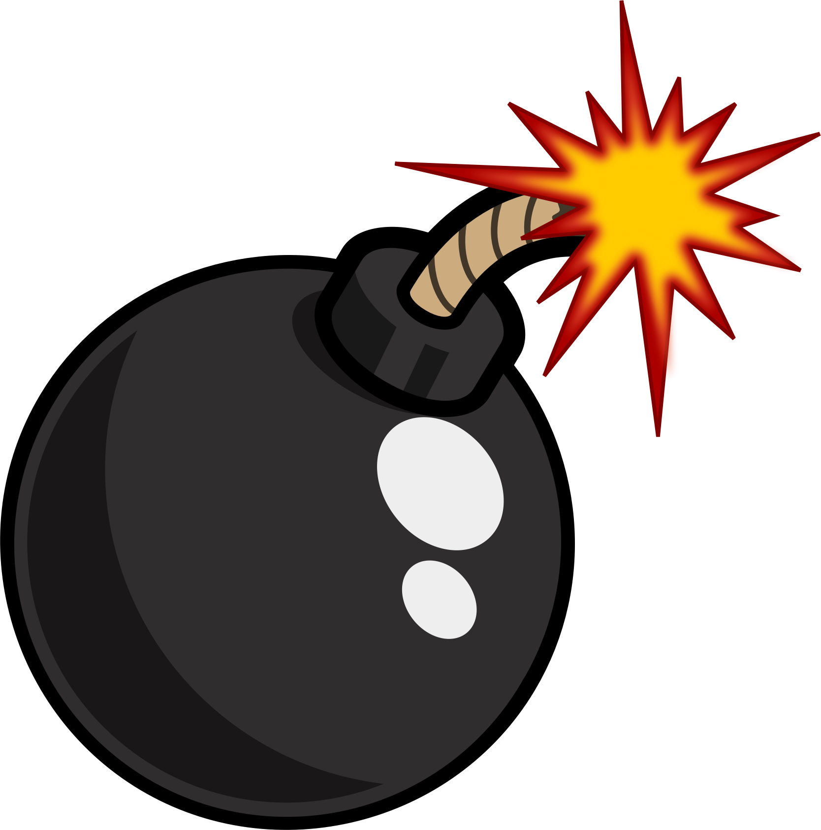 Bomb clipart link. Black cartoon icons png