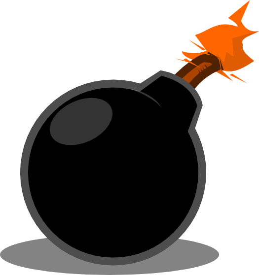 Bomb clipart mischievous. Collection explosion old