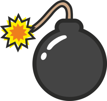 Bomb clipart nucular. Nuclear weapon drawing explosion