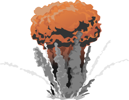 Nuclear drawing bomb exploding. Warfare north korea weapon