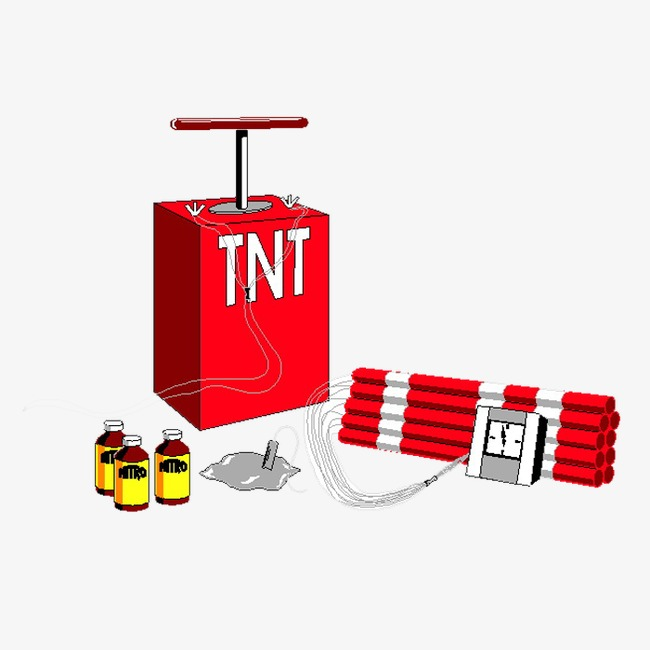 Bomb clipart tnt bomb. Dynamite hand painted building