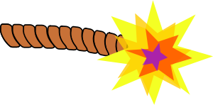 Bomb clipart wick. Lit fuse small image