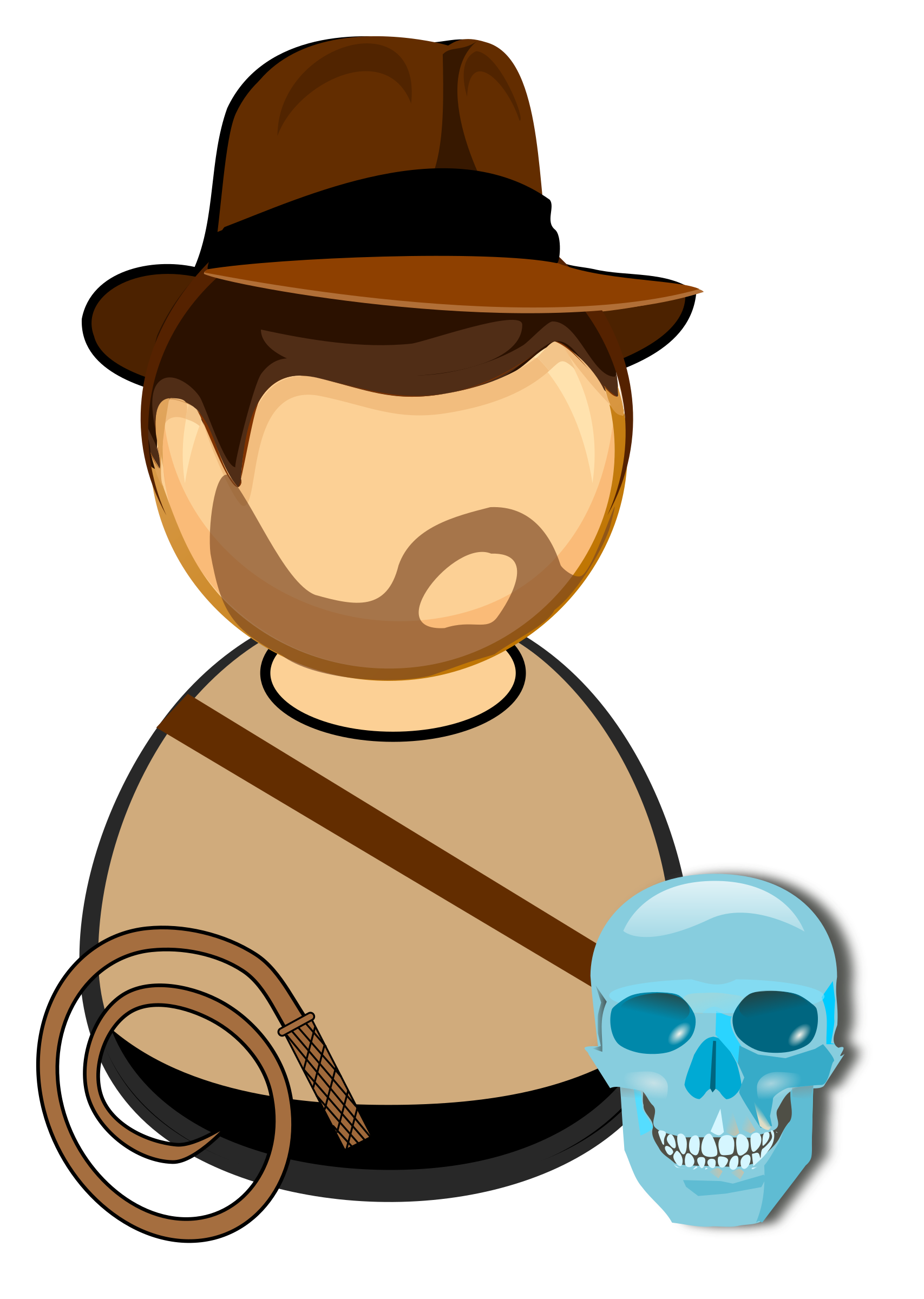 Bone whip png. Adventurer in a hat