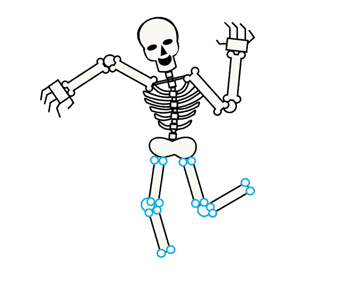 Drawing sports skeleton. How to draw a