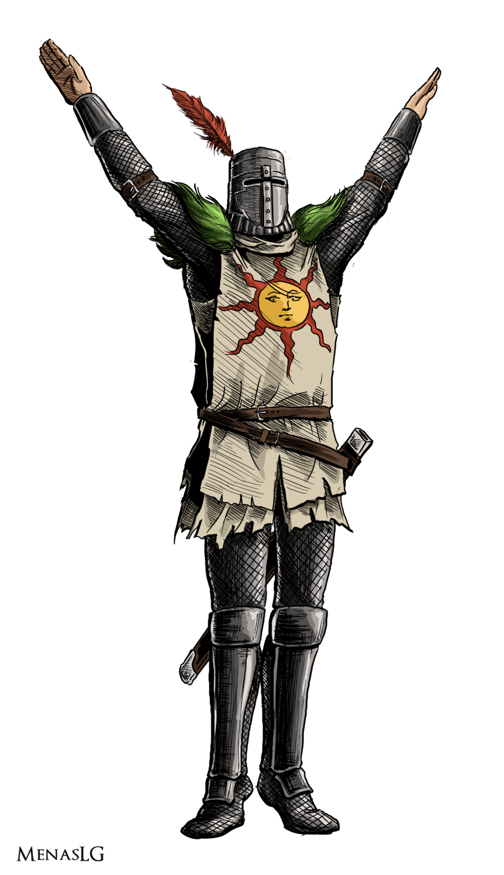 Bonfire dark souls png. Solaire by menaslg on