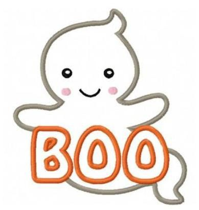 Boo clipart halloween boo. Ghost applique machine embroidery