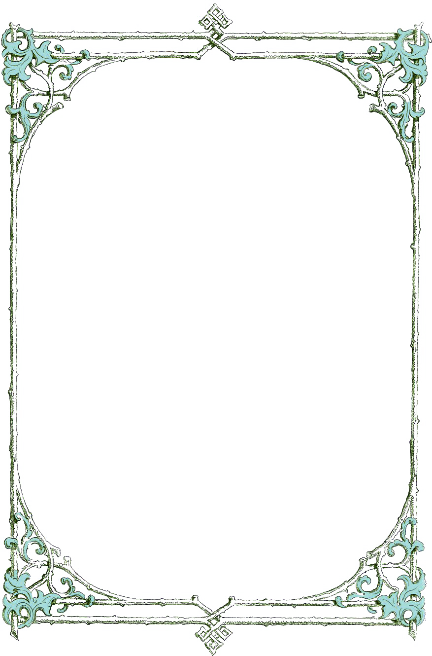 Book border png. Leafy clip art from