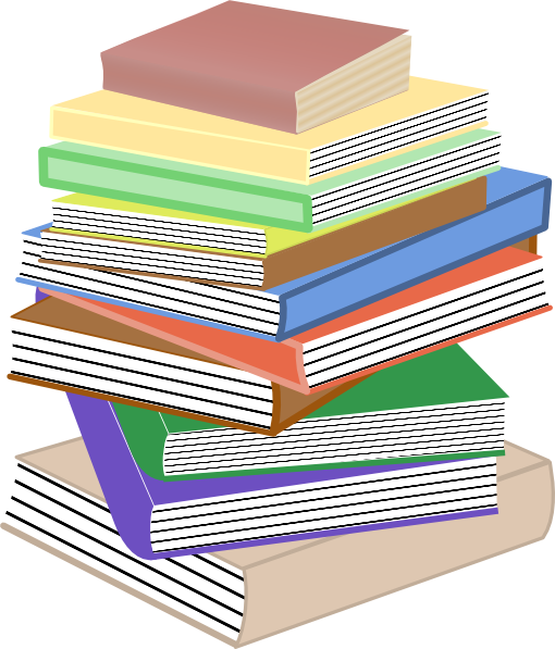 Book cartoon png. Stack of books taller