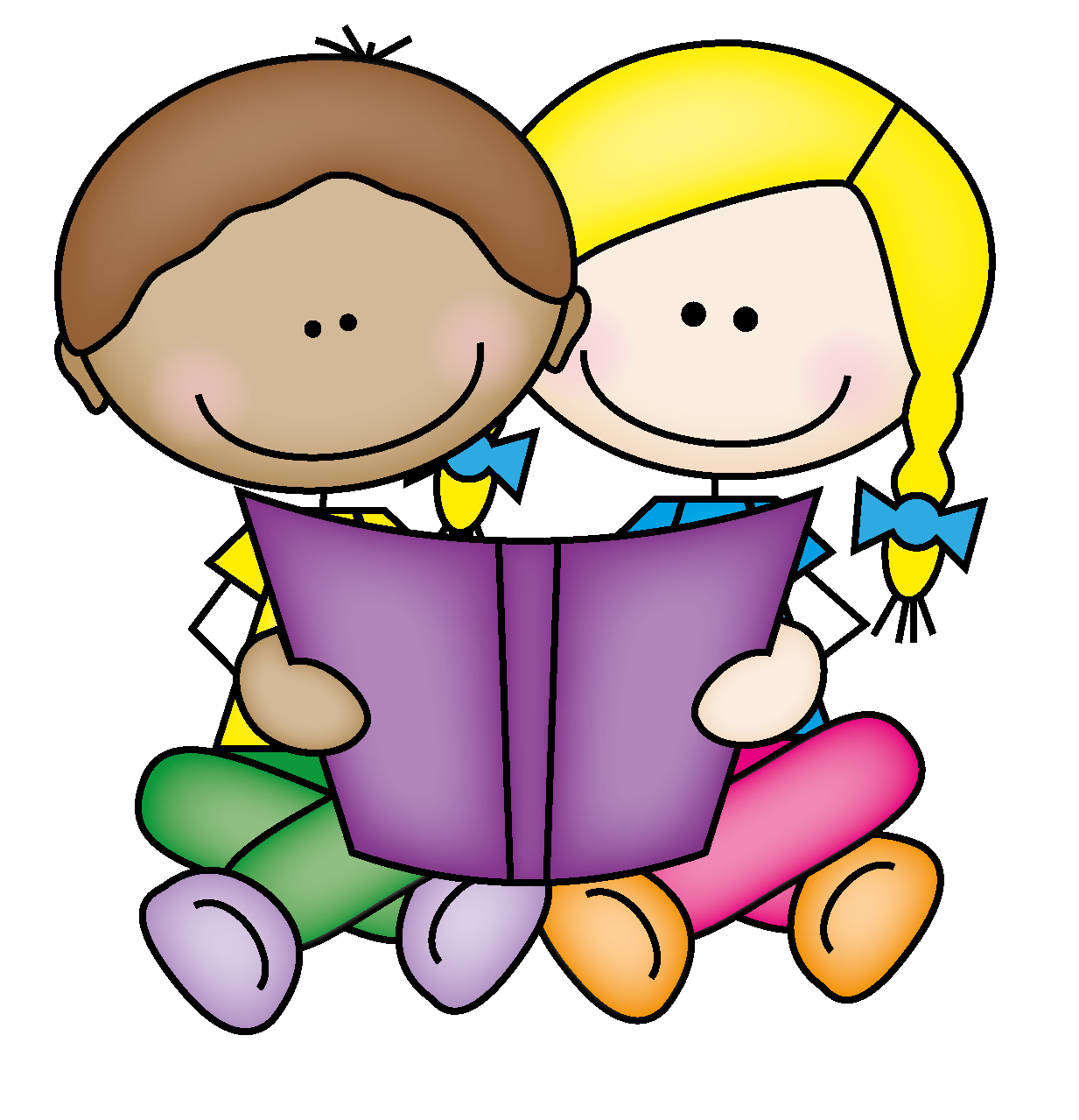 Sharing clipart. Free book buddies cliparts