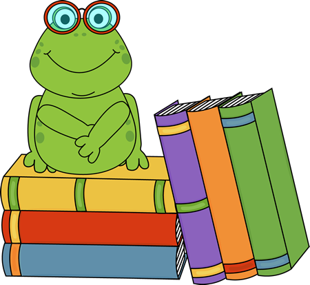 Book clipart frog. And books clip art