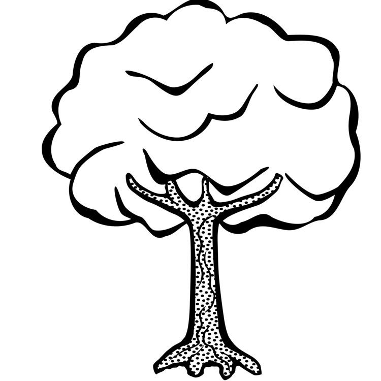 Book clipart tree. Drawing line art coloring