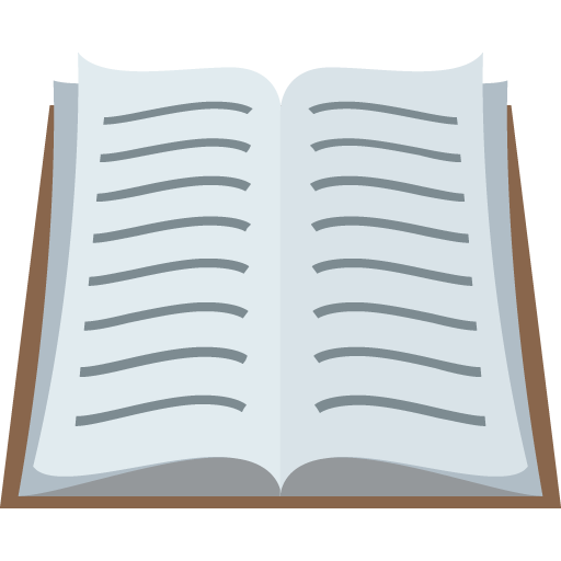 Books emoji png. Open book for facebook