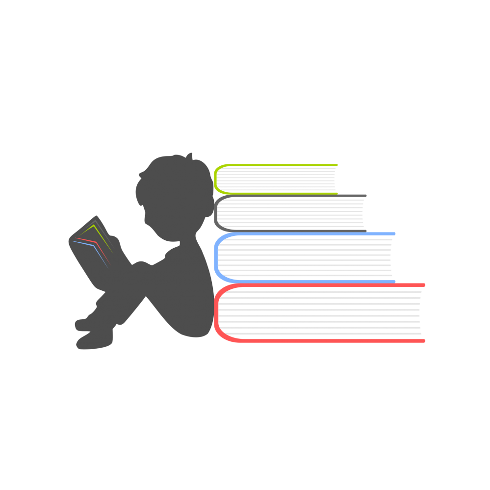 Book logo png. Education boy reading free