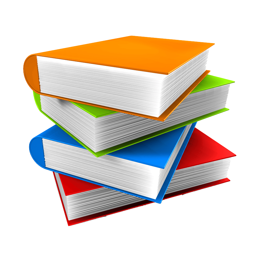 book stack png